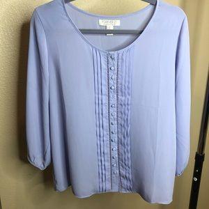 Forever 21 Purple button up blouse size Medium
